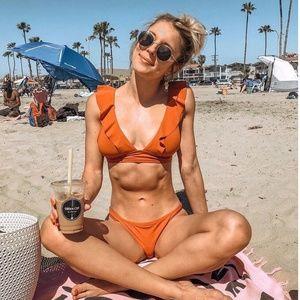 4538e144ef0 Robin Piccone Swim - Robin Piccone Lina Ruffle Bikini Top